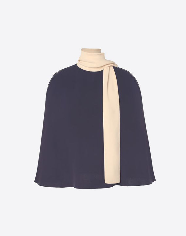 VALENTINO LIGHT CADY CAPE TOP