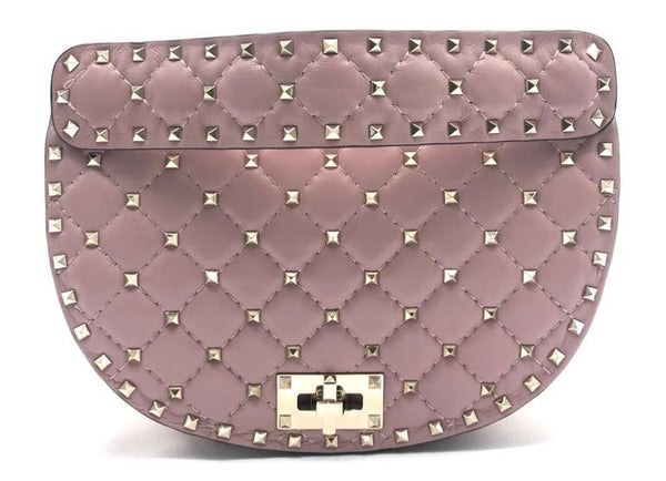 VALENTINO ROCKSTUD SPIKE CHAIN HOBO BAG