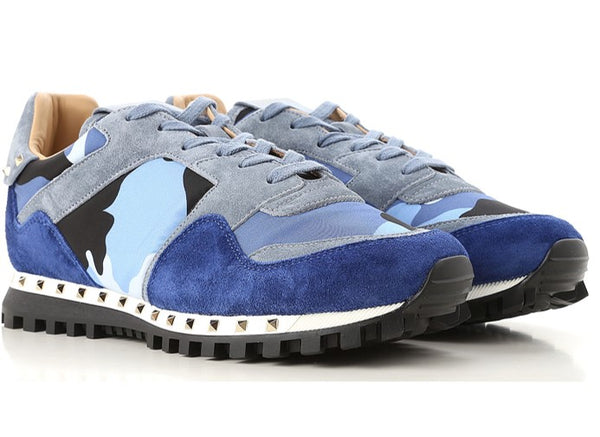 VALENTINO TRAINER STUDDED CAMOUFLAGE