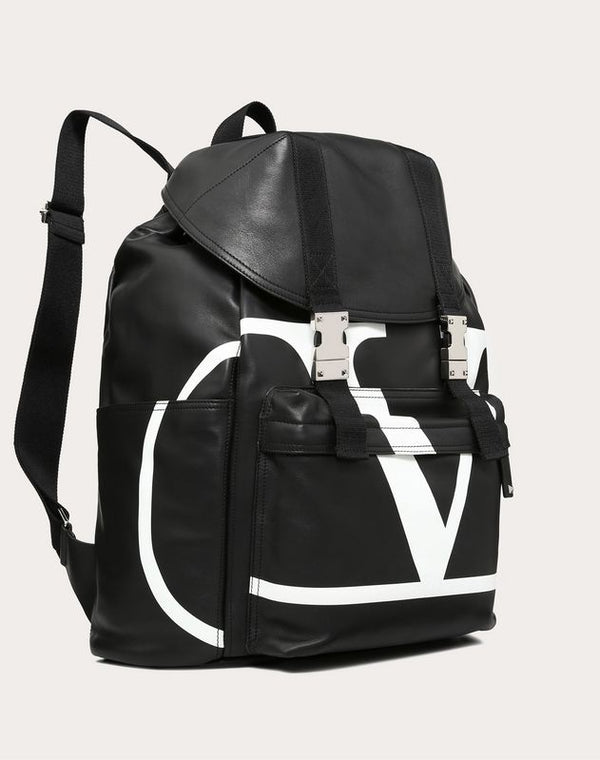 VALENTINO BACKPACK VLOGO LARGE IN  NAPPA LEATHER