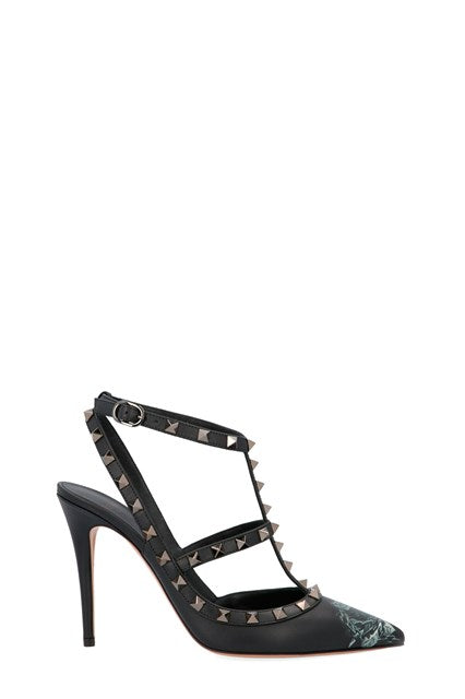 VALENTINO UNDERCOVER ROCKSTUD ANKLE STRAO PUMP 100 MM