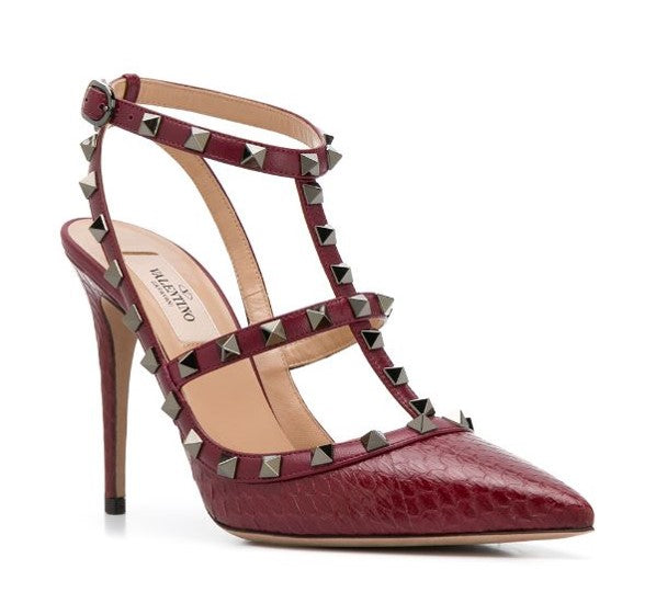 VALENTINO ROCKSTUD ELAPHE PUMP 100 MM