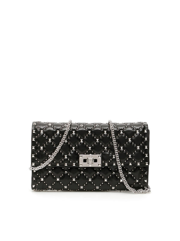VALENTINO ROCKSTUD SPIKE WITH MICRO STUDS CLUTCH