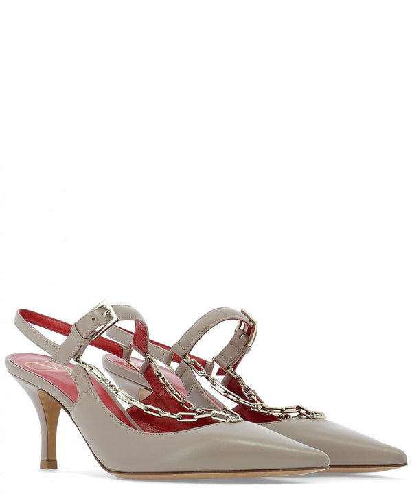 VALENTINO SLING BACK WITH CHAIN  70 MM