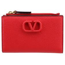 VALENTINO GARAVANI  VLOGO LEATHER COIN PURSE/CARD CASE
