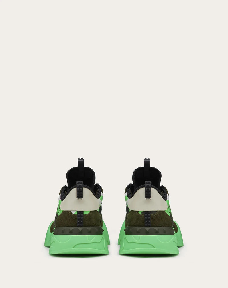 VALENTINO  CAMOUFLAGE ROCKRUNNER PLUS SNEAKER