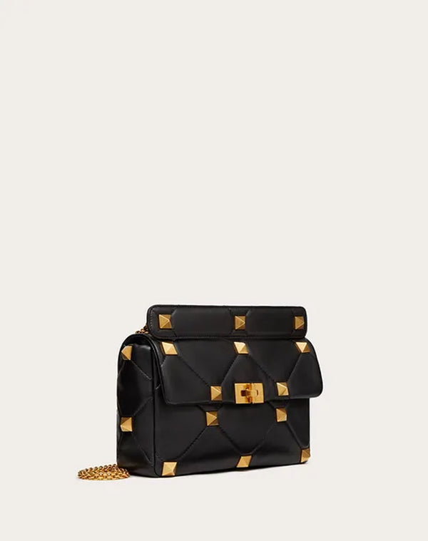 VALENTINO GARAVANI ROMAN STUD CHAIN SHOULDER BAG