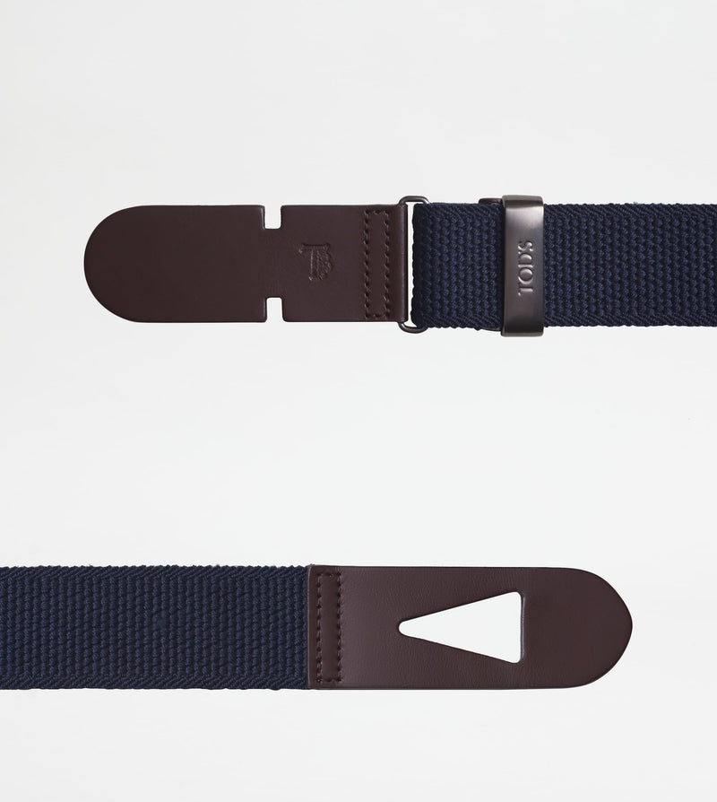Belt in Canvas and Leather