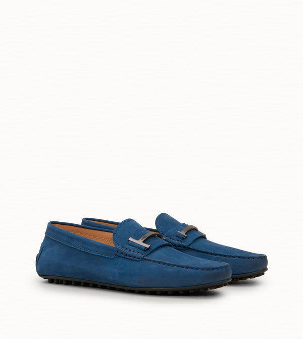 City Gommino Single T Loafers in Nubuck