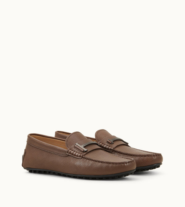 City Gommino Single T Loafers in Leather