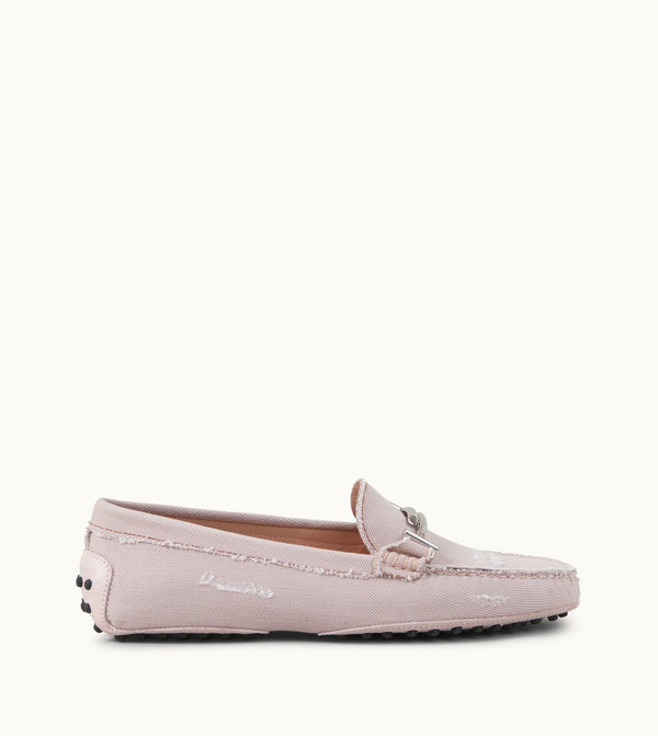 Tod's Gommino Loafers In Denim