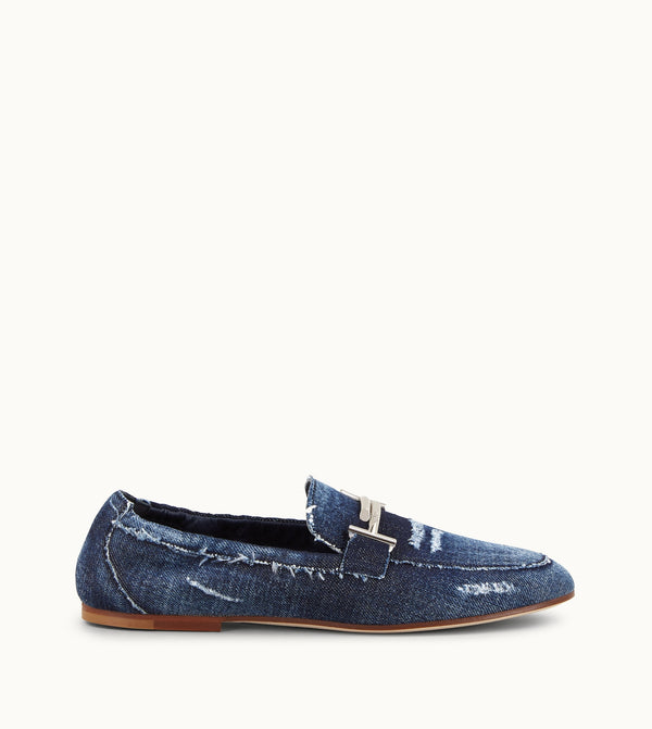 Tod's Loafers In Denim