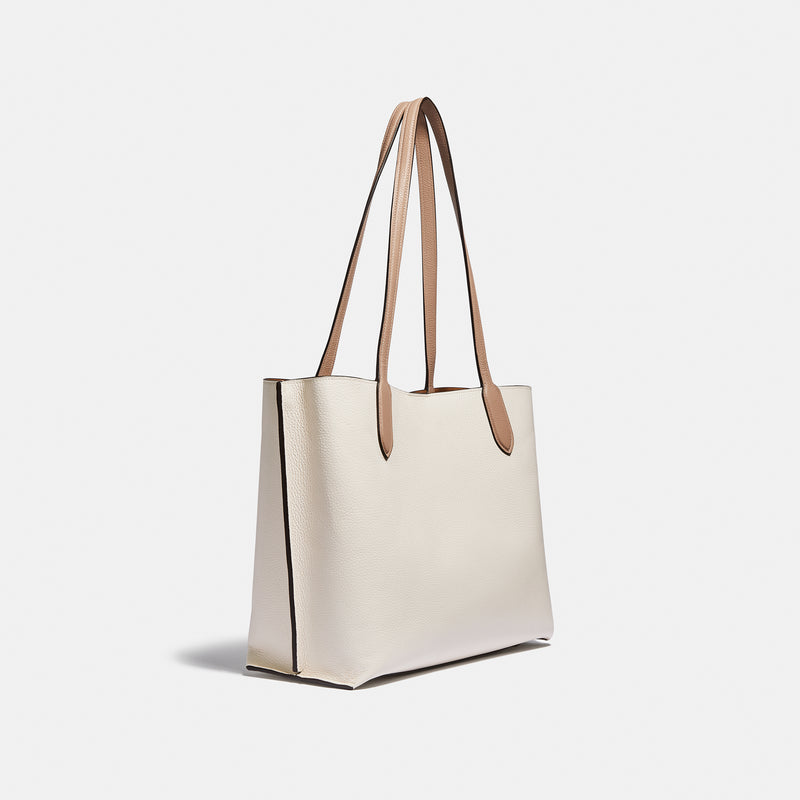 Coach Colorblock leather willow tote