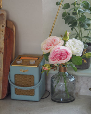 Little Roses : Pink ( With Vase)
