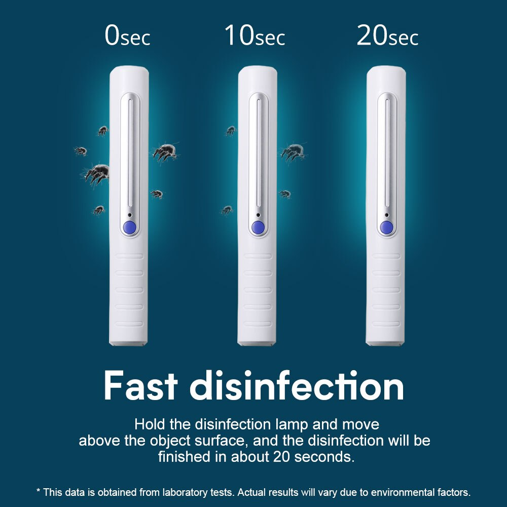 Fast Portable   UVC Disinfection Lamp