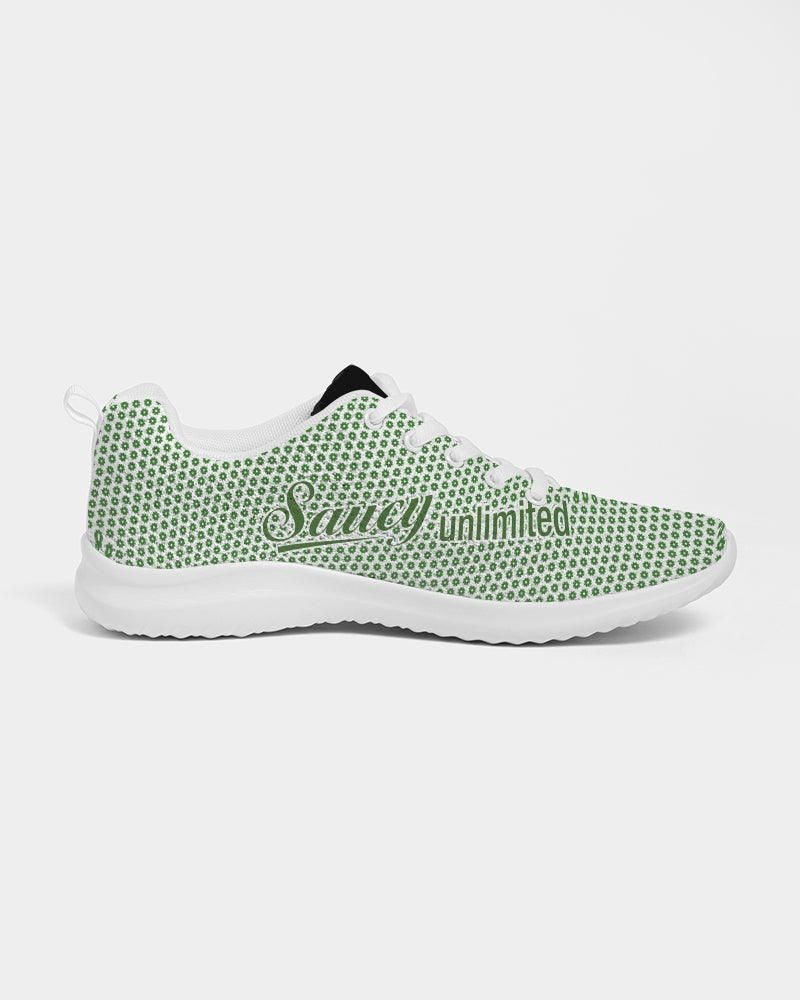 Green Saucy Unlimited logo repeat Women's Athletic Shoe