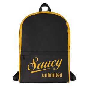 Black & Yellow Saucy Unlimited Logo Backpack