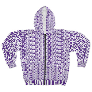 White / Purple Saucy Unlimited 'NEW YORK PRINT Zip-up