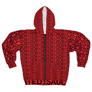 Red Saucy Unlimited 'NEW YORK PRINT' Zip-up