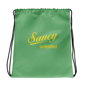 Green / Yellow Saucy Unlimited Drawstring Bag