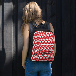 Saucy Unlimited Red 'Heart Chain' Backpack