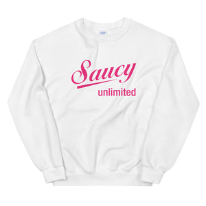 Magenta Original Saucy Unlimited Logo Sweatshirt