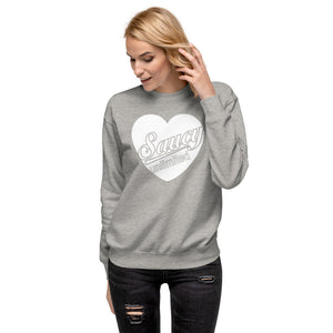 Saucy Unlimited Heart Fleece Pullover