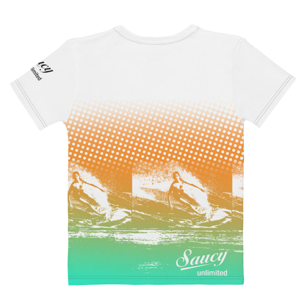 Saucy Unlimited 'Pacific Ocean' All-Over Women's Graphic T-shirt