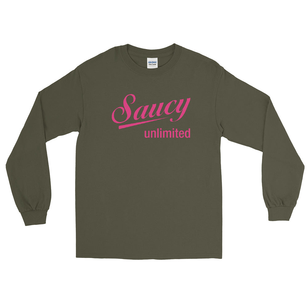 Magenta Saucy Unlimited Logo Long Sleeve Tee