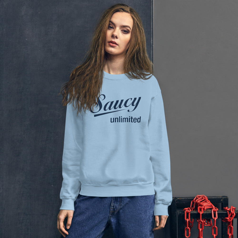 Navy Saucy Unlimited Original Logo Sweatshirt