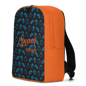 Saucy Unlimited blue/orange 'RINGS' Minimalist Backpack