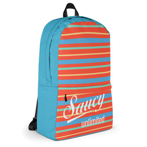 Saucy Unlimited blue, orange, white Backpack