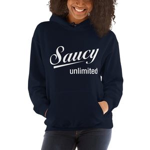 White Original Saucy Unlimited Logo Hoodie