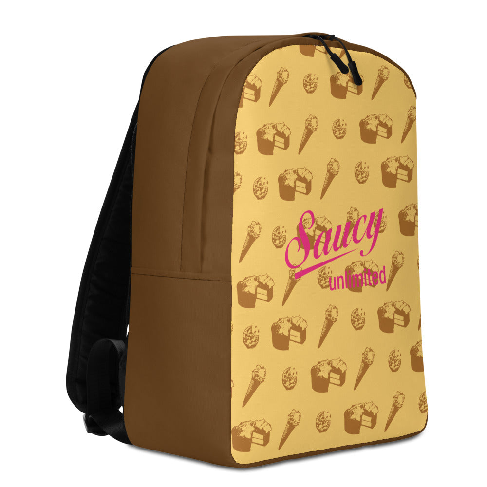 Saucy Unlimited 'SNACKS' Minimalist Backpack