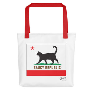 Saucy Unlimited 'SAUCY REPUBLIC' tote bag