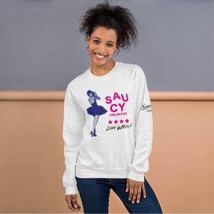 Saucy Unlimited Ballet Dancer Stacked Logo Sweatshirt