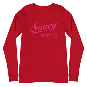 Saucy Unlimited Magenta Logo Long Sleeve T-shirt