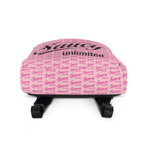 Pink Saucy Unlimited Logo All-Over Backpack