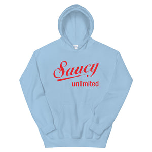 Red Original Saucy Unlimited Logo Hoodie
