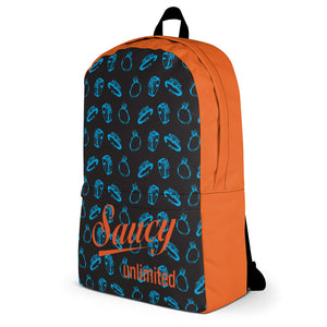 Saucy Unlimited Blue Rings / Orange highlights All-over Backpack