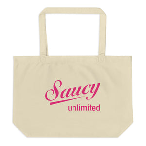 Saucy Unlimited Large organic Tote Bag