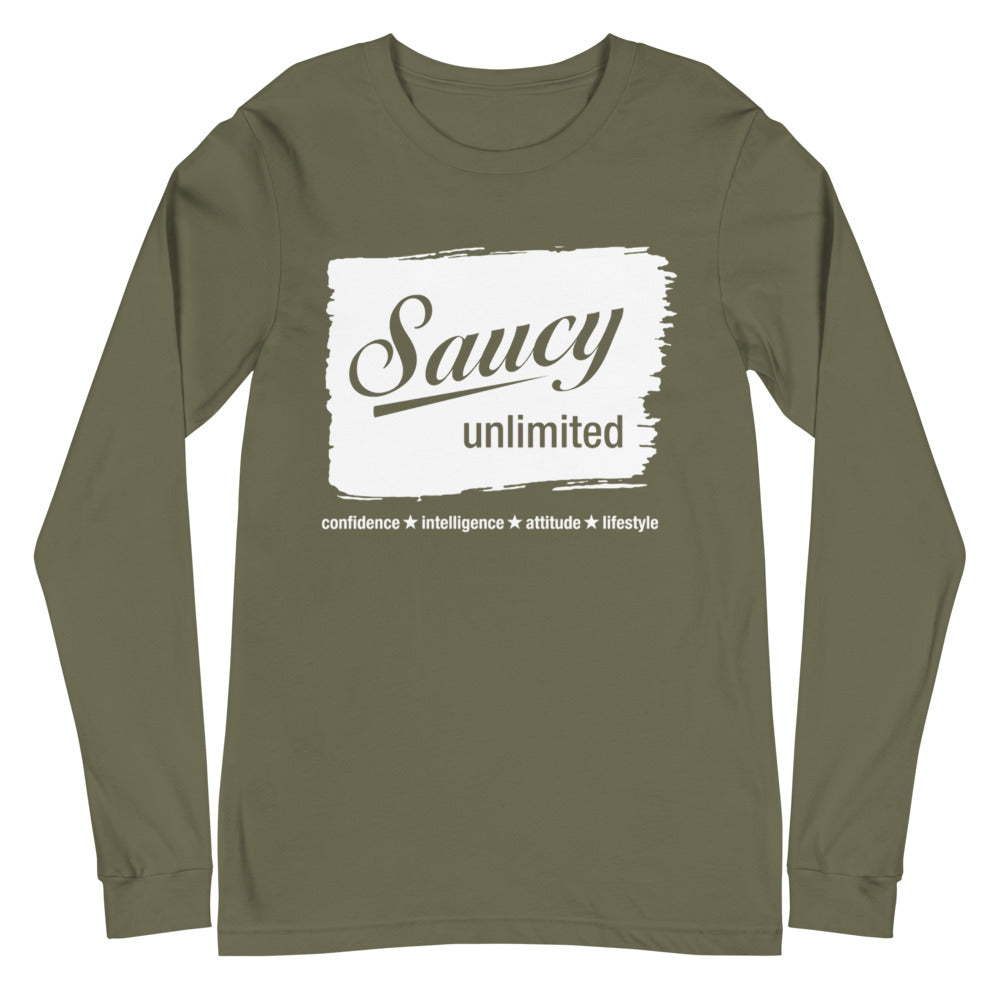 Saucy Unlimited White Streak Long Sleeve Tee