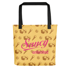 Saucy Unlimited 'Snacks' Tote bag