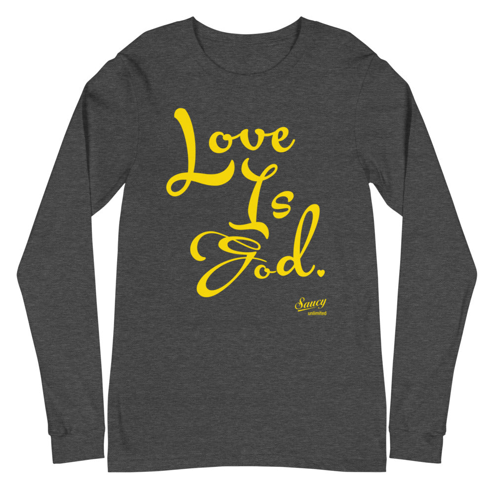 Saucy Unlimited 'Love Is God' Long Sleeve T-shirt