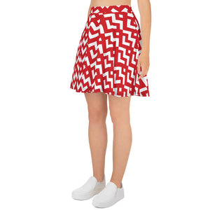 Saucy Unlimited Red Heart Skater Skirt