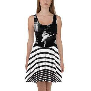 Saucy Unlimited black and white 'BALLERINA' Skater Dress