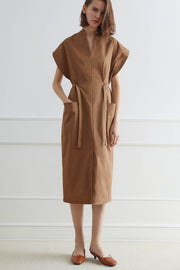 CALGARY Midi Dress with Side Belt