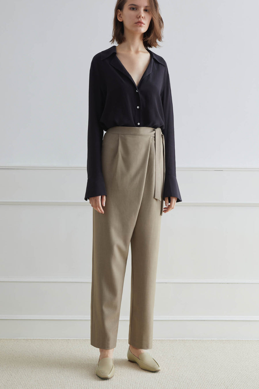CASHEL Pants with Self-Tie Belt