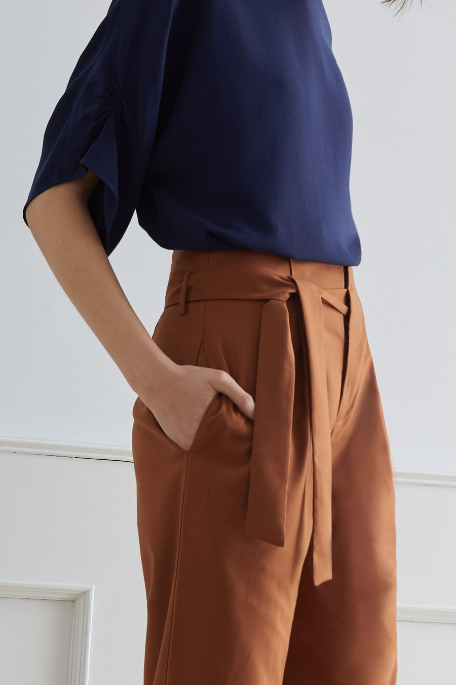 ROUEN Pants with Slip-In Belt