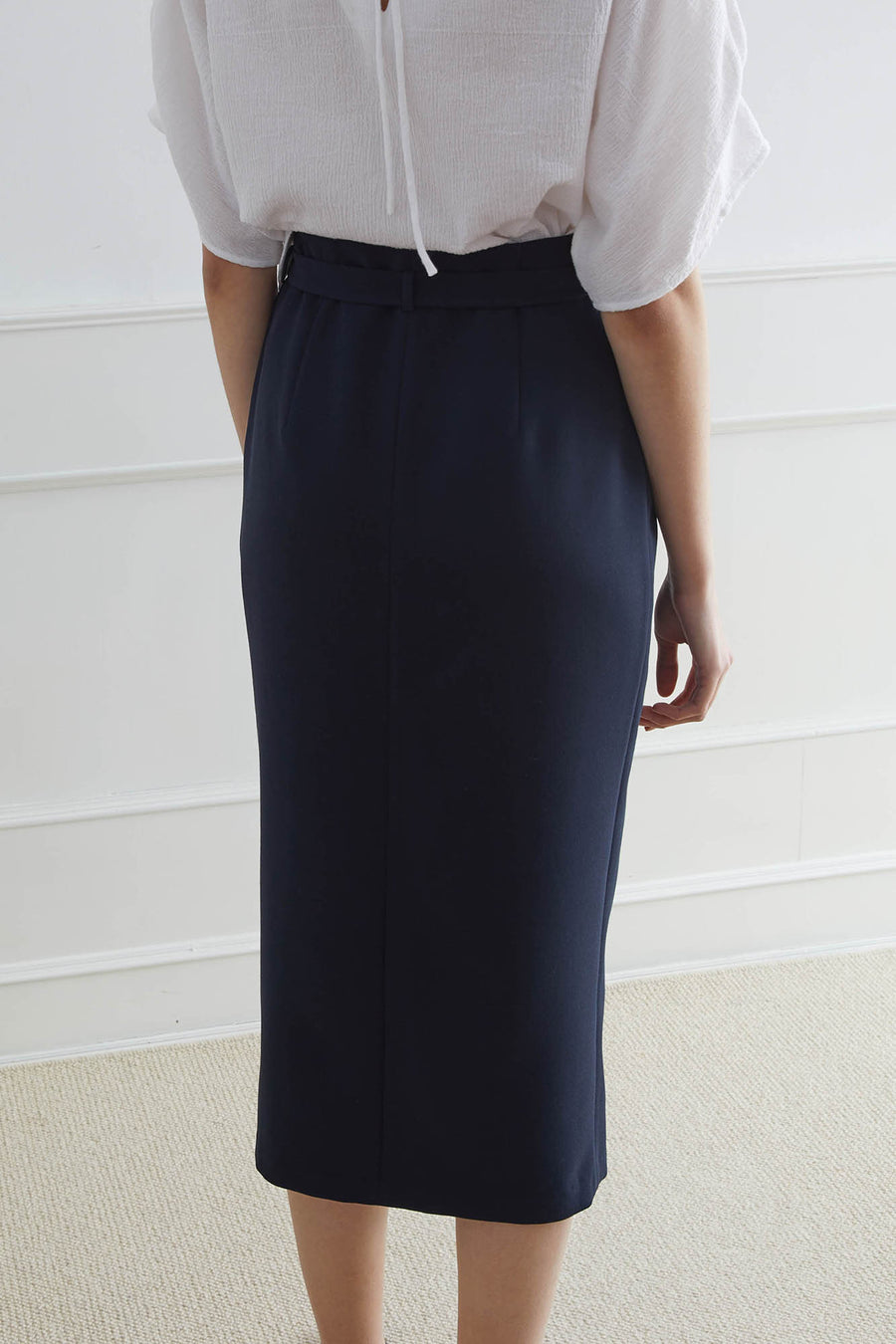 ASPEN Pencil Skirt with Slip-in Belt